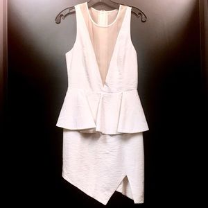 Keepsake White Mesh Sleeveless Cocktail Dress